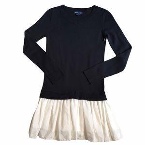 GapKids Black & White Sweater Dress Medium/8